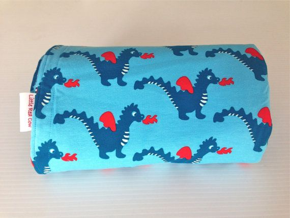 Organic Cotton (GOTS Certified) Baby Dragon Luv Blanket on Etsy, $49.00 AUD
