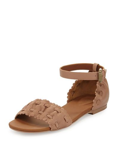 17818e3a360c S1M8B See by Chloe Jane Scalloped Ankle-Wrap Sandal