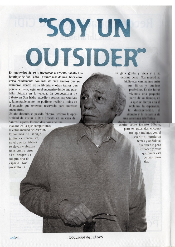 Sabato en la 3ª Edición del Periódico Publicado por la Boutique del Libro San Isidro, 30 años