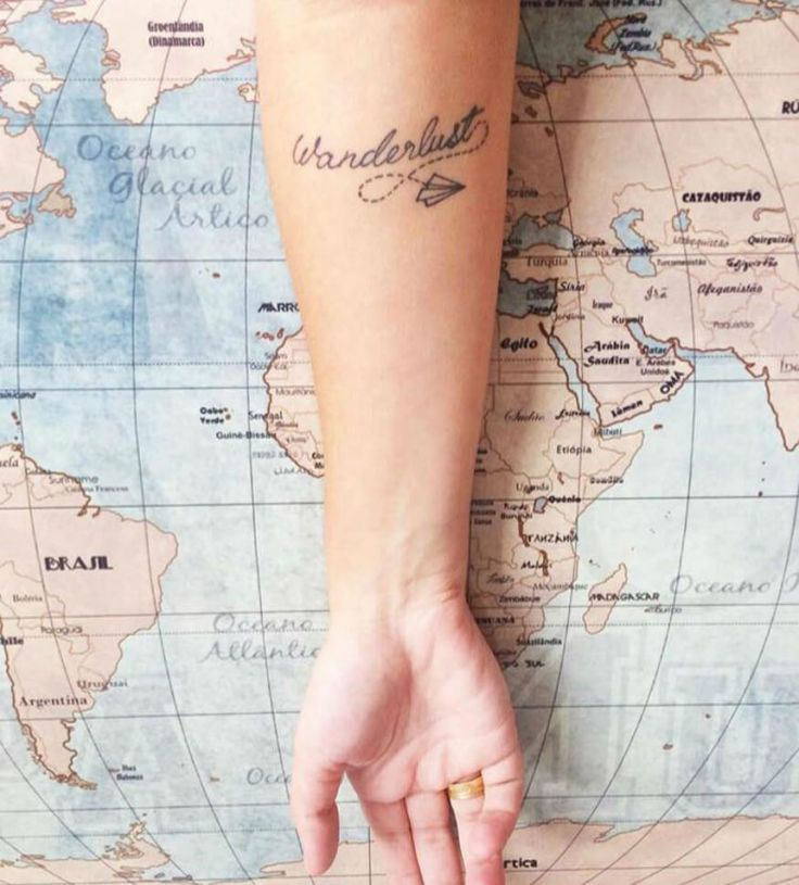 Wanderlust tattoo - Sede por viagens