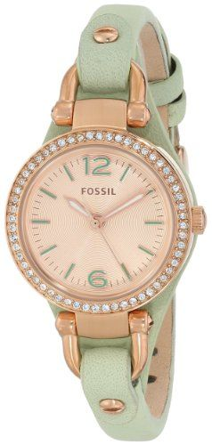 """Fossil Women's ES3471 """"Georgia"""" Stainless Steel Watch with Leather Strap Fossil http://www.amazon.com/dp/B00HVBJ9HQ/ref=cm_sw_r_pi_dp_L3oOtb16M1TETCK2"""