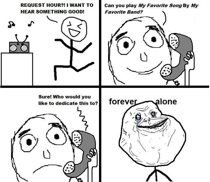 Forever Alone :'(  Like us for More. www.vibguor.com  #quote #Funny #memes #story #Fuin #entertainment