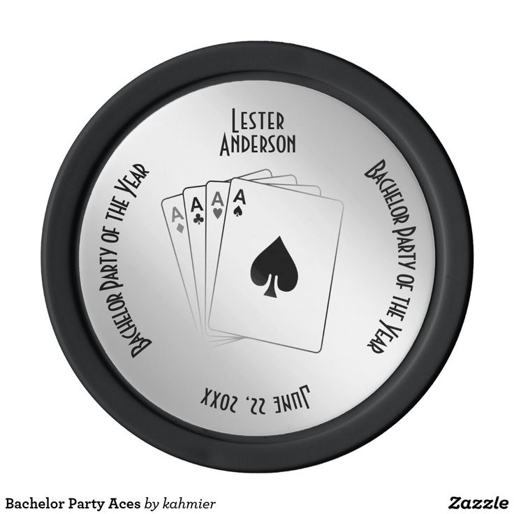Bachelor party aces poker chips in 2020 with