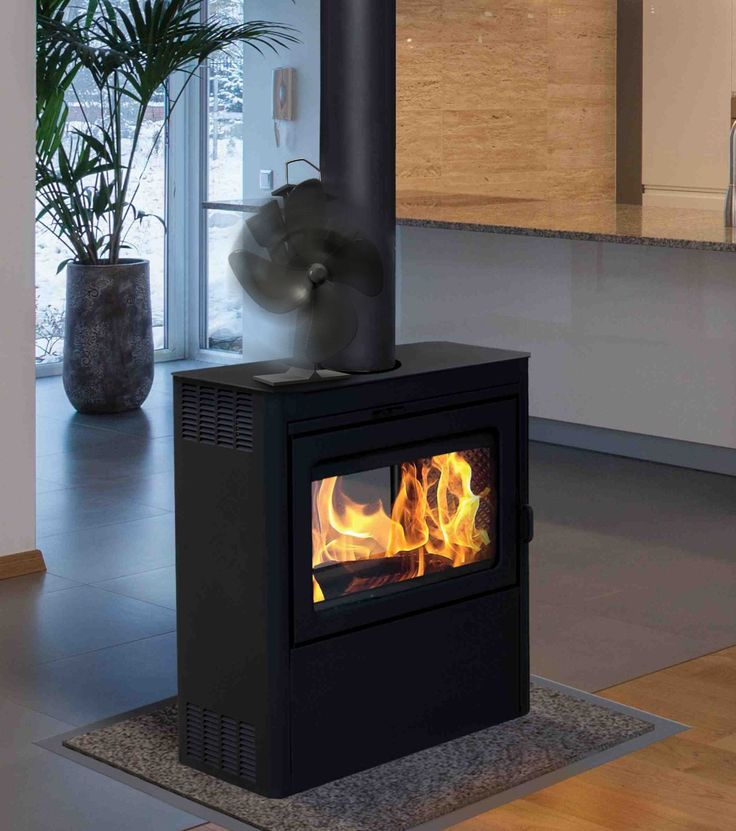 Fireplace Heat Powered Fan – Enjoy Heat From Your Wood Burning Stove and Drive Heat into Your Entire House Without Electricity