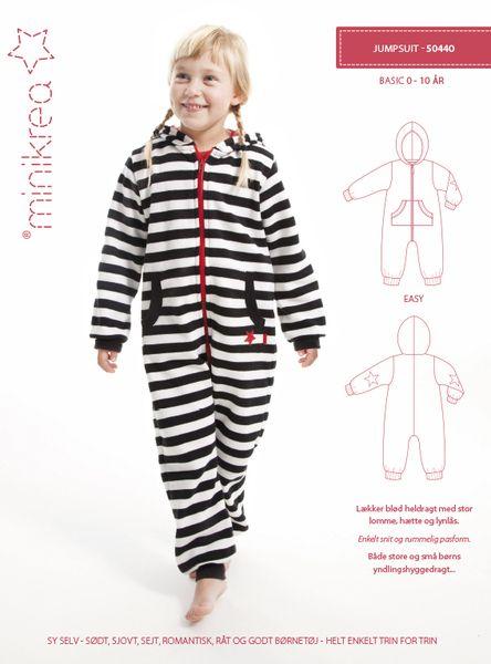 Minikrea Schnittmuster ❤ Overall Kinder Jumpsuit von Villa ❤ Stoff auf DaWanda.com
