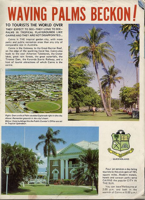 """Cairns City Council Tourism Ad,1971  Inside back cover,""""The North Queensland Annual"""""""