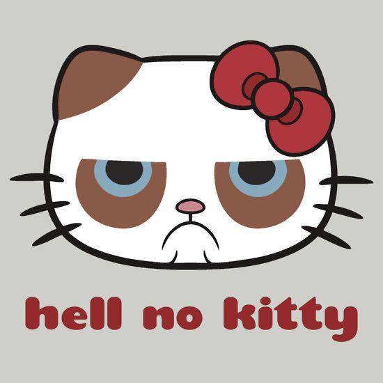 hell no kitty ! Grumpy cat