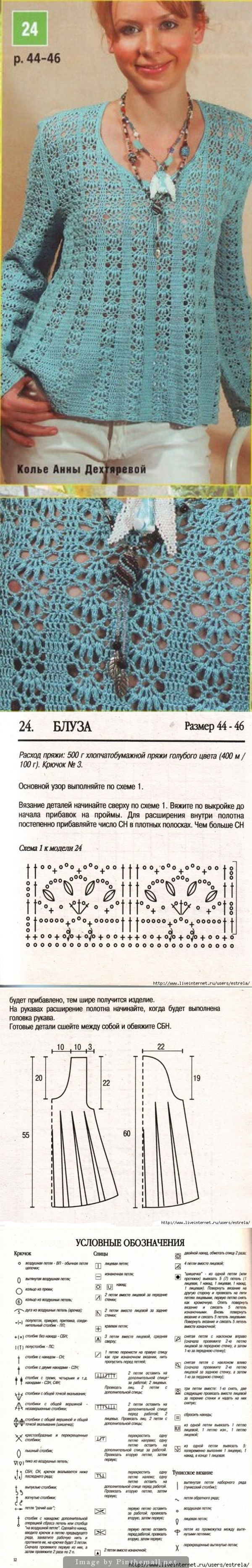 Crochet pullover - http://www.liveinternet.ru/users/4127920/post242359557/ - created via http://pinthemall.net
