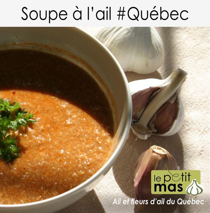 Réconfortante soupe à l'ail.   Idéale pour soigner vos rhumes et vos grippes!