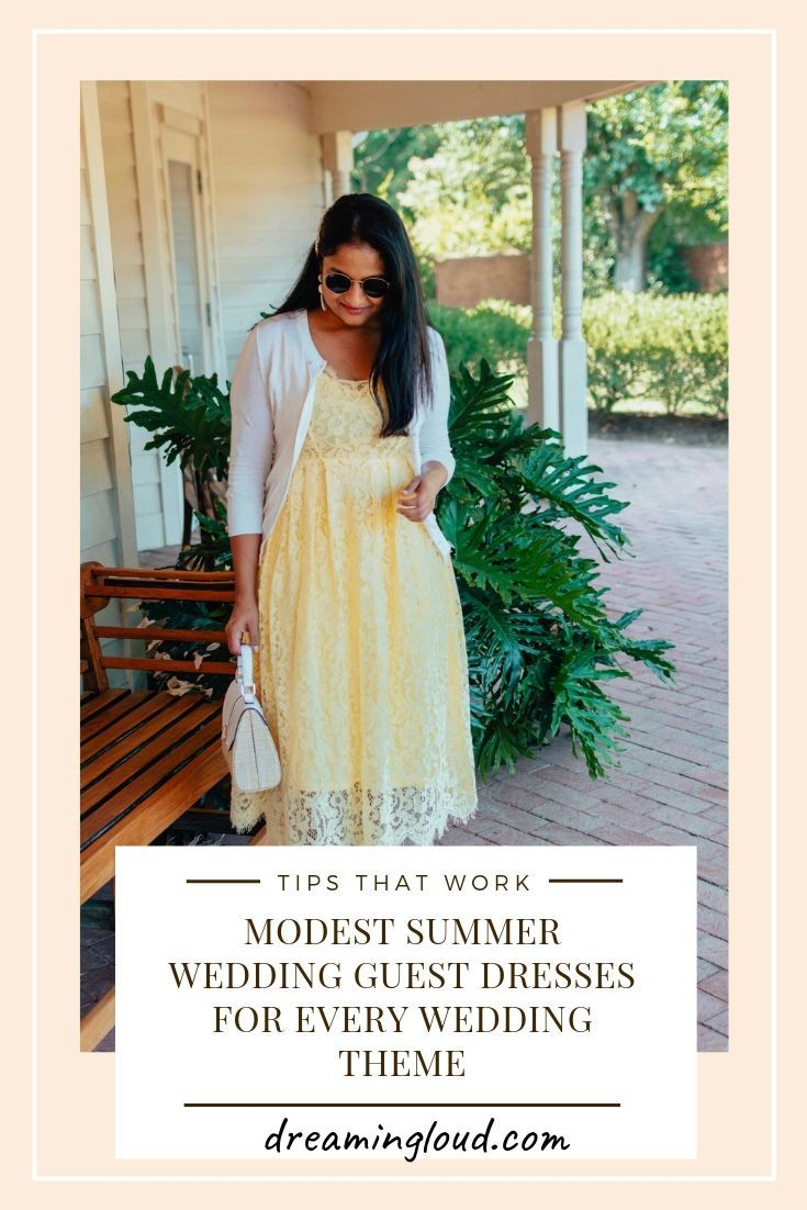 Modest Summer Wedding Guest Dresses For Every Wedding Theme Wedding Guest Dress Summer Wedding Guest Dress Guest Dresses [ 1102 x 735 Pixel ]
