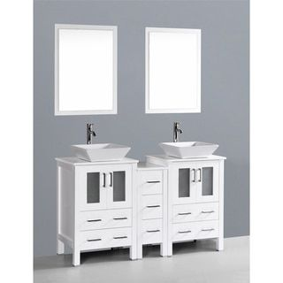 Shop for Bosconi AB224S1S 60-inch Double Vanity. Get free delivery at Overstock.com - Your Online Furniture Outlet Store! Get 5% in rewards with Club O!