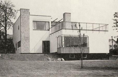 Alva och Gunnar Myrdals villa i Bromma, Stockholm.
