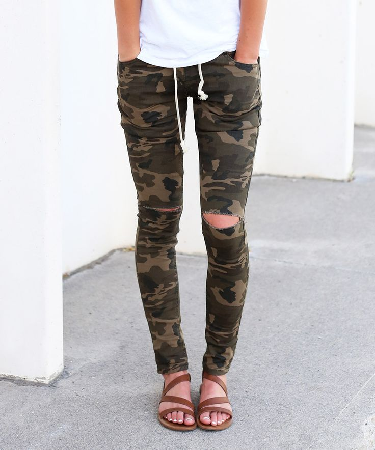 Look what I found on #zulily! So Perla Camo Distressed Drawstring Joggers by So Perla #zulilyfinds