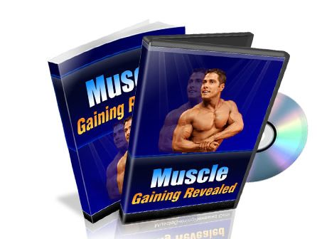 Muscle Gaining Revealed Package,  the comprehensive eBook that contains information regarding muscle building