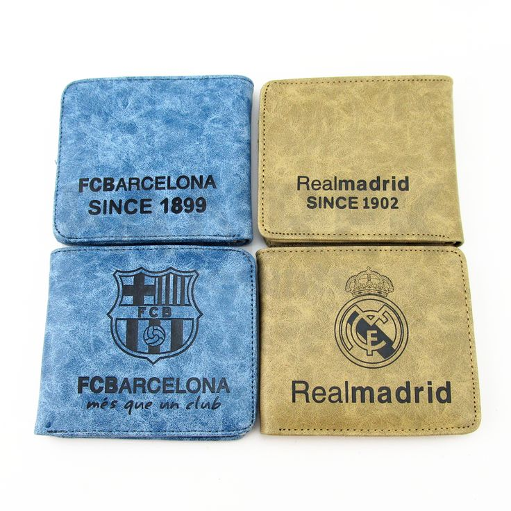 FC Barcelona Realmadrid AC Logo Wallet Purse