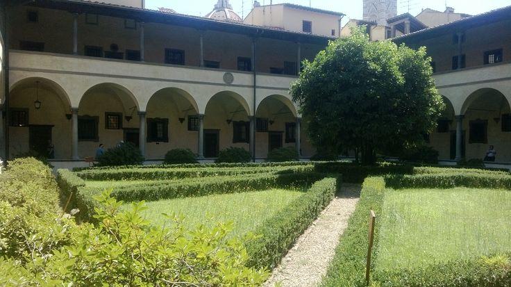 Courtyard, Biblioteca Medicea Laurenziana Firenze.