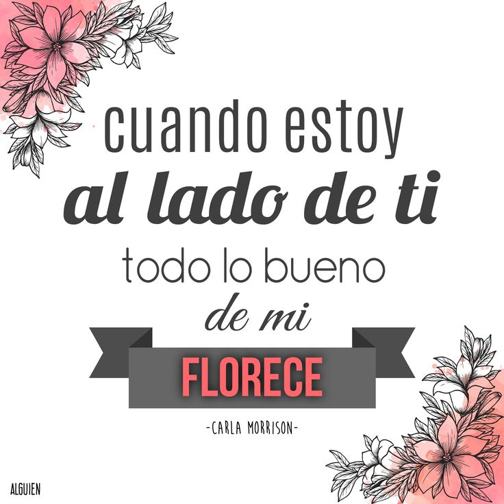 """""""Cuando estoy al lado de ti todo lo bueno de mi florece"""" -Carla morrison"""