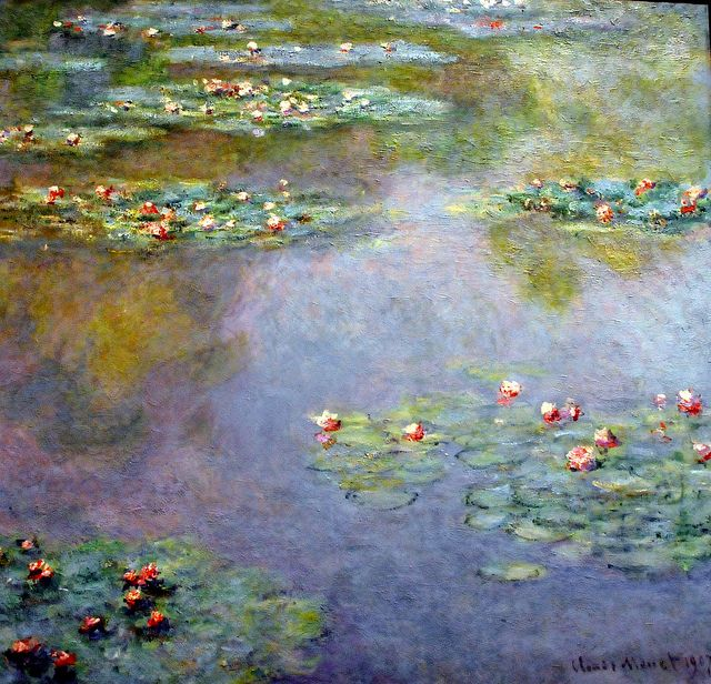 Claude Monet - Water Lilies, 1907 at Boston Museum of Fine Arts by mbell1975, via Flickr