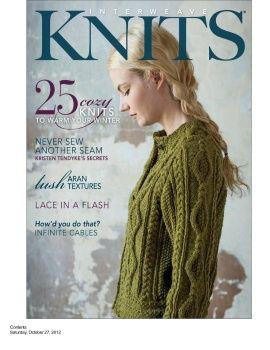 hand-made-knitting-crochet: Interweave Knits. Winter - 2012