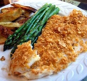 """Corn Flakes: Baked Fish Fillets :""""This is very quick, easy and delicious! I added a tiny bit of cayenne pepper."""" -Derf"""