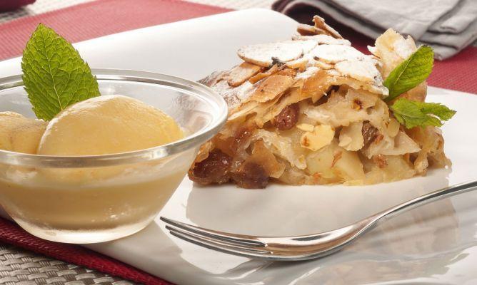 Receta de Strudel de manzana y almendras (Sin Lactosa)