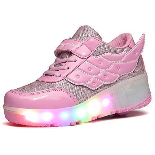 Oferta: 30.98€. Comprar Ofertas de SGoodshoes Mujer LED Zapatos con Ruedas Hombre Zapatillas Deporte Patín Ruedas Zapatos con Luces para Niñas Niños barato. ¡Mira las ofertas!
