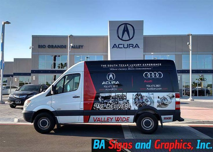 Acura commercial van wrap done with 3M IJ180Cv3. Thanks BA Signs and Graphics, basignsandgraphics.com