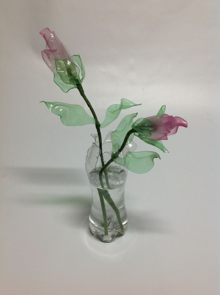 Rosas elaboradas en pet hechos con amor pinterest for Plastic bottle vase craft