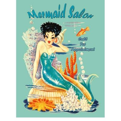 Mermaid Salon Beauty Reproduction Sign
