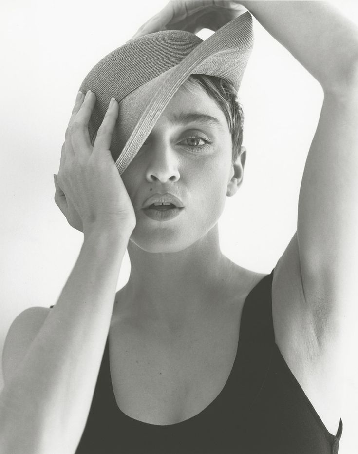 All Seeing Eye pose - Who's That Girl? Madonna photographed by Herb Ritts in 1987 for her Who's That Girl Tour Book