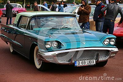 Ford Thunderbird 1956 at vintage cars parade in Bucharest, Romania.