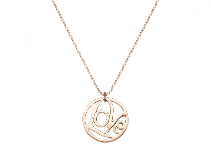 ladies LOVE necklace rosegold