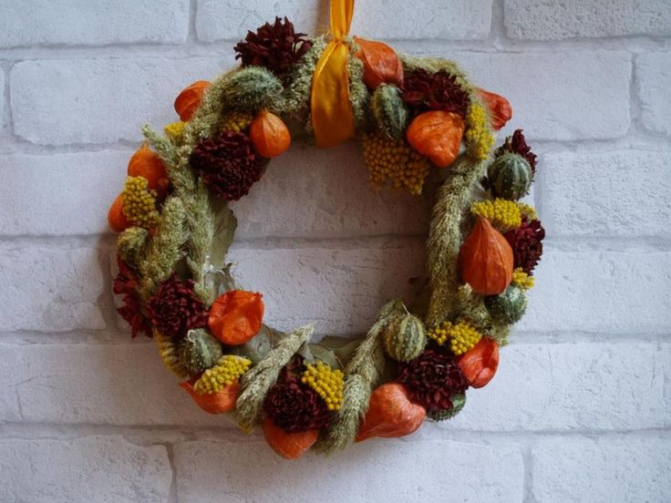 Couronne de porte d co automne qui cr e la bonne ambiance d co et d coration - Couronne de porte ...