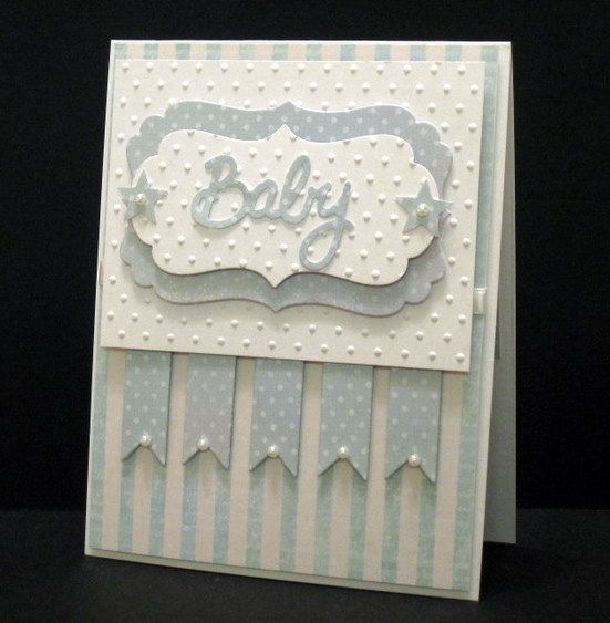 Cuttlebug Polka Dots and layering- this would be a cute birthday card as well