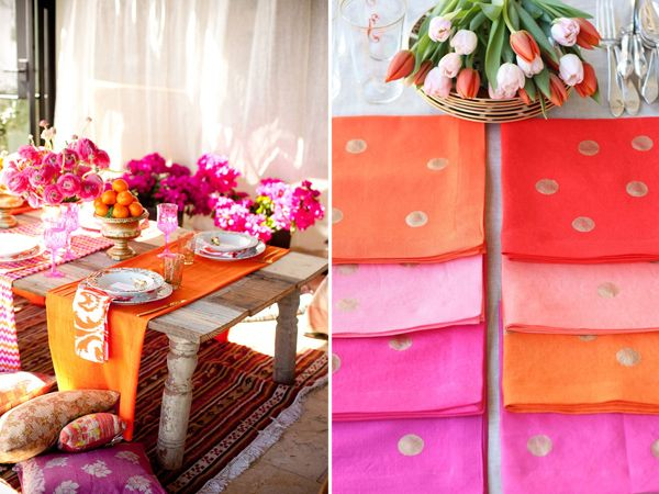With just a few days into Spring, we're already getting anxious for summer! The hotpink and orange color palette above is the reason why