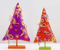 Christmas Tree bright felt on stand
