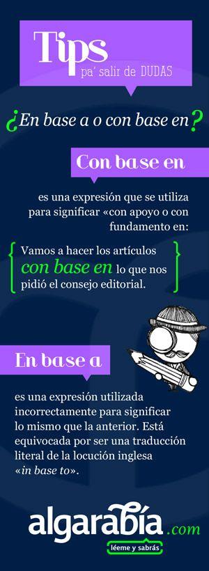 «Con base en», mejor que «en base a». #español