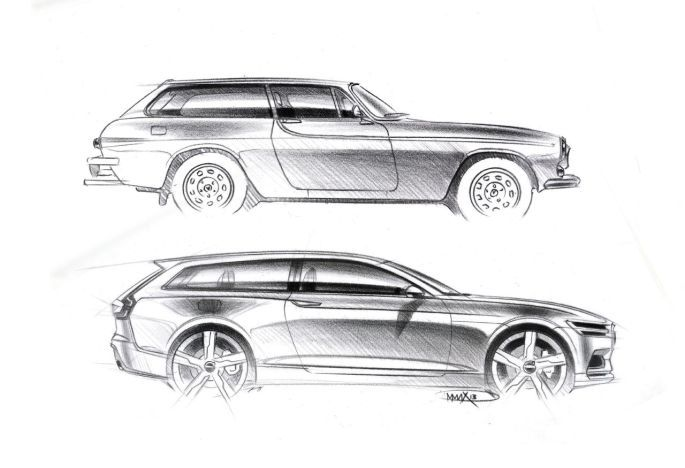 Volvo Concept Estate and ES 1800 sketch