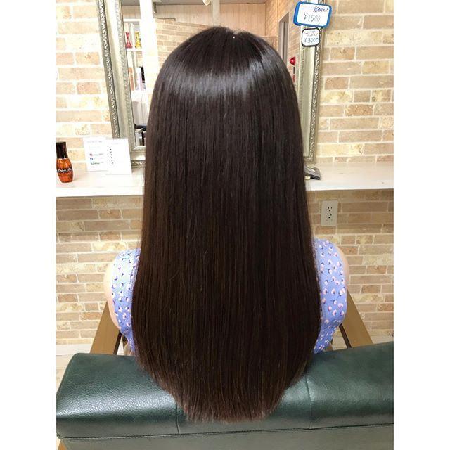 生トリートメントと超音波で 超サラツヤ髪に仕上がりました Souta