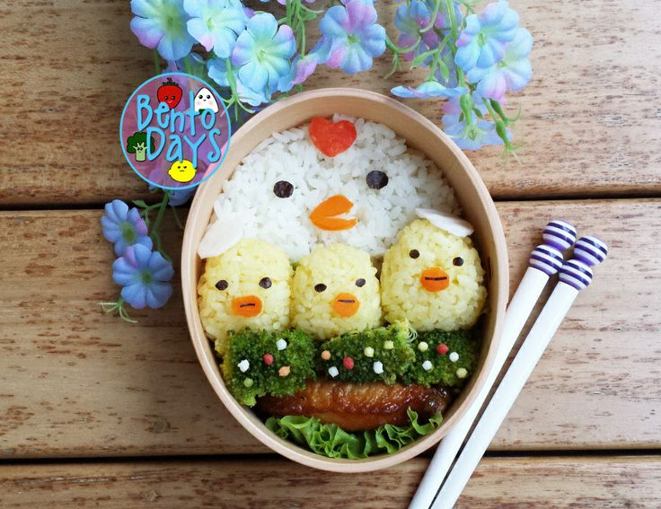 Hen and chick Mother's Day bento | Bento Days