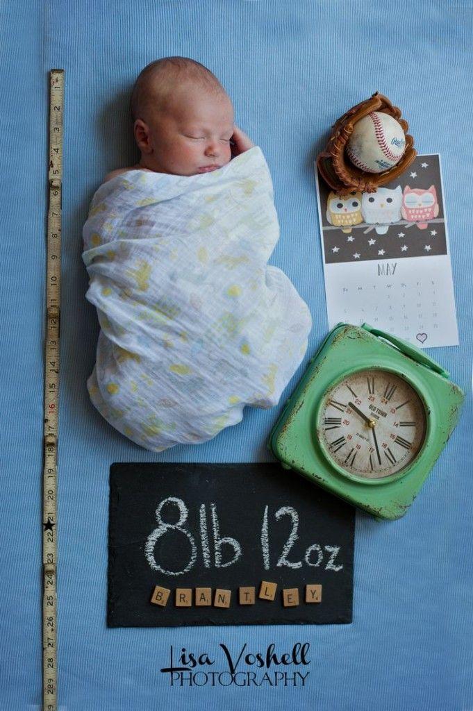 Comment annoncer la naissance de bébé de manière à la fois jolie et originale ? Comme sur ce cliché par exemple ? Il est mignon n'est-ce pas ?