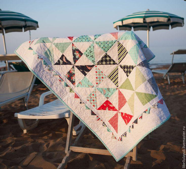 """Купить Детское лоскутное одеяло """"Вертушки"""" - лоскутное одеяло, детское лоскутное одеяло, детское одеяло"""