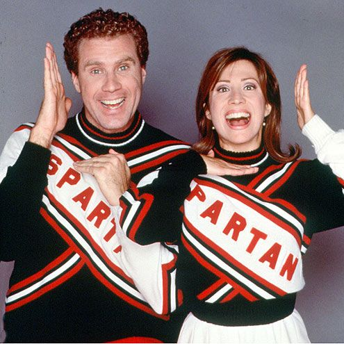 Will Ferrell and Cheri Oteri as the Spartan Cheerleaders, an extremely amusing '90s SNL skit.
