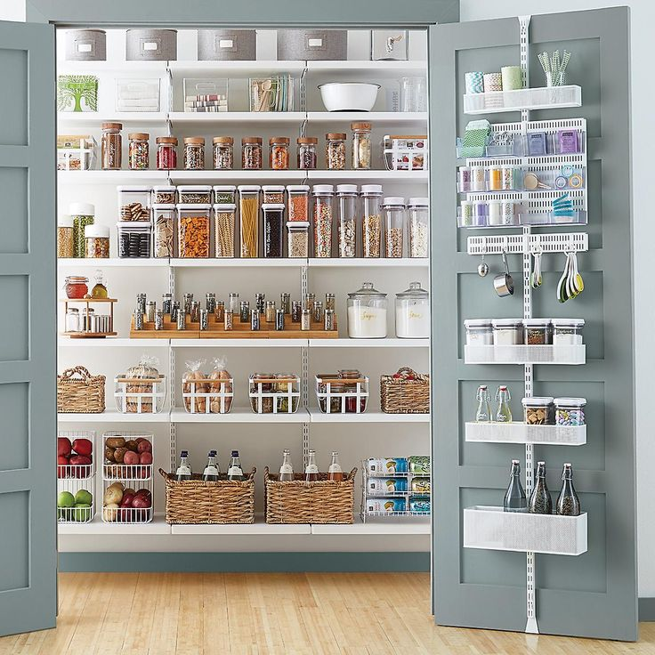 Kitchen Stores: Elfa Utility White Mesh Pantry Door & Wall Rack In 2019