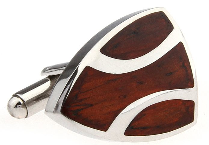 These premium cufflinks are designed for the distinguished individual. Featuring sleek stainless steel inlaid with polished rosewood, these shields are a must for anyone who wants to stand out from the crowd. Harkening back to the days of knights in shining armour, let this cufflink be one of the heroes of your collection.