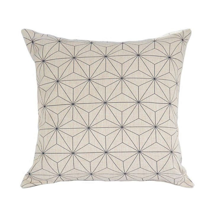 pink jewelry Elviros Scandinavian Swedish Geometric Throw Pillow Cover White amp Black  x  Elviros
