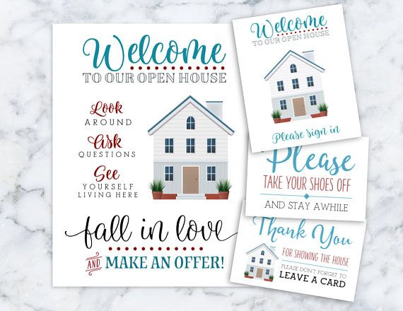 picture regarding Welcome to Our Open House Printable titled Real estate agent Welcome in the direction of Our Open up Home Printables You should Indicator