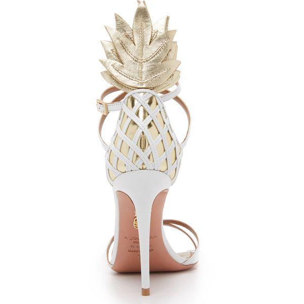 Aquazzura Pina Colada Sandals ❤ liked on Polyvore featuring shoes, sandals, aquazzura shoes and aquazzura