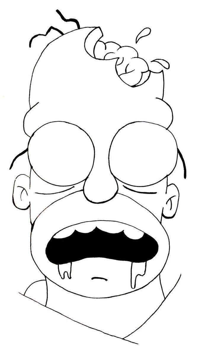 Resultat De Recherche D Images Pour Dessin Zombie Facile Dessin Tableau Peinture Zombie