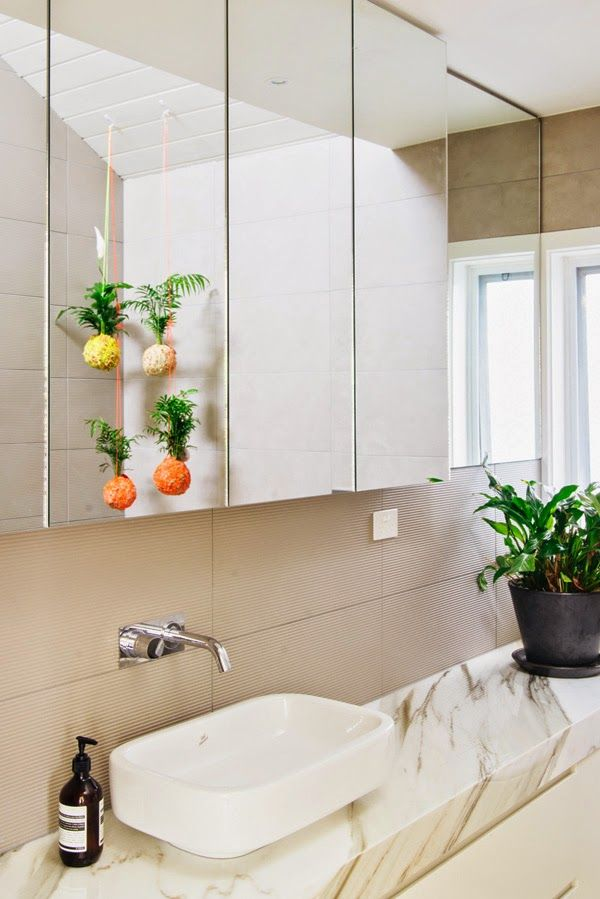 Jenna Spences Mister Moss Suspended Plant Balls Hang From The Bathroom Ceiling Photo
